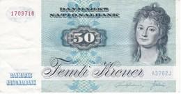 BILLETE DE DINAMARCA DE 50 KRONER DEL AÑO 1972 (BANK NOTE) - Danemark
