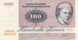 BILLETE DE DINAMARCA DE 100 KRONER DEL AÑO 1972  (BANKNOTE) - Danemark