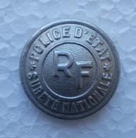 - Ancien Bouton. Police D'Etat - RF - Sureté Nationale - - Police & Gendarmerie