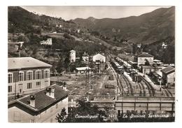 CT--02665-- CAMPO LIGURE(GENOVA)-(m.340) LA STAZIONE FERROVIARIA-VIAGGIATA 1959 - Other Cities