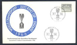 Germany 1966  Cover: Football Fussball Calcio Soccer: FIFA World Cup Jules Rimet; Germany Vice World Champion - Copa Mundial