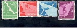 Romania1957: GYMNASTICS  Michel1639-42mnh**Cat.Value14Euros($15.60) - 1948-.... Republics