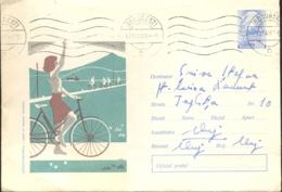 74416- CYCLO-TOURISM, CYCLING, SPORTS, COVER STATIONERY, 1967, ROMANIA - Ciclismo