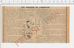 Presse 1904 Origines De L'absinthe évocation Couvet Môtiers Fleuriet Buttes Suisse Maison Dubied Alcool Pernod 223V - Vieux Papiers