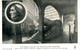 YORKS - BRADFORD - MIDLAND HOTEL - HENRY IRVING LAST CALL 1905  Y1011 - Bradford