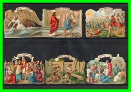 Onze Chromos Découpis - Motif Epoque Jesus..(rectos Versos) - Old Paper