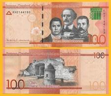 Dominican Republic 100 Pesos Dominicanos P-new 2017(2018) Modified Design UNC - República Dominicana