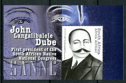 South Africa 2012 John Dube - Founding President Of The SANNC MS MNH (SG MS1928) - South Africa (1961-...)