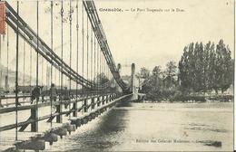 CPA De GRENOBLE - Le Pont Suspendu Sur Le Drac. - Grenoble