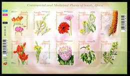 South Africa 2012 Commercial And Medicinal Plants Sheetlet MNH (SG 1947-1956) - South Africa (1961-...)