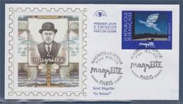 = Centenaire De La Naissance Du Peintre René Magritte Enveloppe 1er Jour Paris 18.4.98 N°3145 Le Retour France-Belgique - FDC