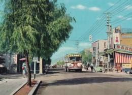 Yamaguchi City Japan, Yuta Hot Springs Street Scene, Bus , C1960s Vintage Postcard - Other