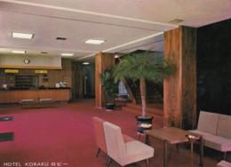 Oita (Beppu) Japan, Hotel Koraku Lobby Interior View, C1970s Vintage Postcard - Other