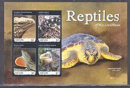 NEVIS 1702   **   REPTILES  Of The  CARIBBEAN  IGUANA,  TURTLE Ect. - Reptiles & Amphibians