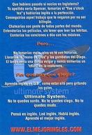 EL MEJOR INGLES APRENDE IDIOMA CLASES LOOK AND TAKE 2001 ARGENTINA TARJETA PUBLICIDAD MODERNA -LILHU - Reclame