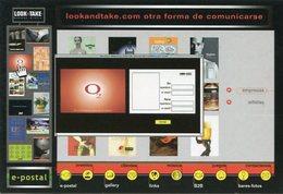 LOOK AND TAKE OTRA FORMA DE COMUNICARSE 2002 ARGENTINA TARJETA PUBLICIDAD MODERNA -LILHU - Reclame
