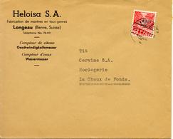 1937 Lettre De Longeau Vers La Chaux-de-Fonds. Publicite D'horlogerie Suisse - Horlogerie