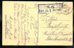 WWI 1917 Zichtkaart Bruxelles Kommandantur Met Briefstempel S.B. III.B.I.-B ??  TRAM - Oorlog 14-18