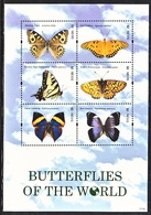 NEVIS 1660   **   BUTTERFLIES  Of The  WORLD - Vlinders