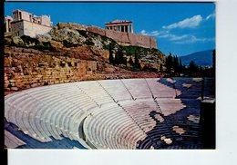 U3931 Cartolina ATENE, ATHENS, ATHENE - THE ODEON OF HERODE ATTICOS + Greece, Archeologia Archeologie Archeology - Grecia