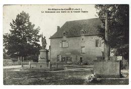 ST HILAIRE La CROIX Près De Combronde, Le Monument Aux Morts - Circulée - Bon état - Andere Gemeenten