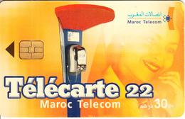 MOROCCO - Cardphone, Woman On Phone, Maroc Telecom 30 Dh, Used - Morocco