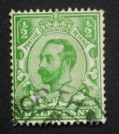GB KGV 1911  SG322/Sc.#151  1/2d Green Die A, Wmk Imperial Crown, Used. - 1902-1951 (Rois)