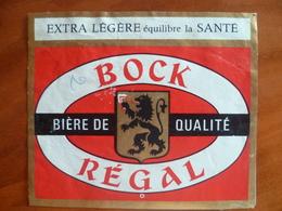 Ancienne étiquette Brasserie REGANOR  A ARRAS Bock Régal - Bière