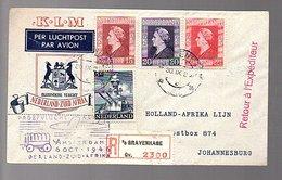 1947 Nederland-Zuid Africa KLM Flight Holland-Afrika Lijn(CM-63) - Periode 1891-1948 (Wilhelmina)
