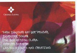GRAFICA LATINA CIRCA 2000 ARGENTINA TARJETA PUBLICIDAD MODERNA -LILHU - Reclame