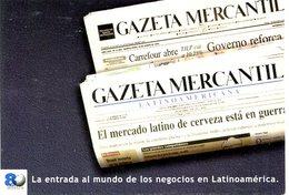 80 AÑOS GAZETA MERCANTIL 2000 VIA POSTAL ARGENTINA TARJETA PUBLICIDAD MODERNA -LILHU - Reclame