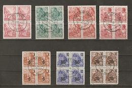 Allemagne DDR 1953/4 - Plan Quinquennal - Petit Lot De 7 Blocs De 4° - 3 Blocs Avec Surcharge - Timbres