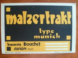 Ancienne étiquette Brasserie DOUCHET A AVION  Malzertrakt Type Munich - Bière