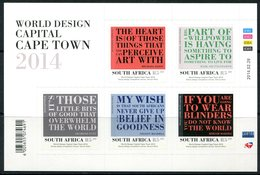South Africa 2014 World Design Capital, Cape Town Sheetlet MNH (SG 20096-2100) - South Africa (1961-...)