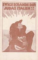 EWIGE SCHANDE DIR JUDAS ITANIEN!! DRUD VON BEINER. CIRCA 1930s JUDAICA JEWISH ORIGINAL RARISIME UNIQUE- BLEUP - Jodendom