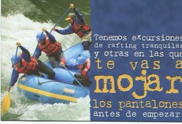 AGUAS BLANCAS RAFTING EXCURSIONES 2002 ARGENTINA TARJETA PUBLICIDAD MODERNA -LILHU - Reclame