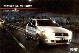 NUEVO PALIO 2008 TODO EMOCION FIAT 2007 ARGENTINA TARJETA PUBLICIDAD MODERNA -LILHU - Reclame