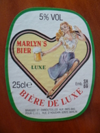 Ancienne étiquette Brasserie MARLYN'BIER Bière De Luxe A BARLIN - Beer