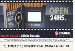 NUEVO BOX 20'1 EDICION LIMITADA LUCKY STRIKE ORIGINAL VOICE 2007 ARGENTINA TARJETA PUBLICIDAD MODERNA -LILHU - Reclame