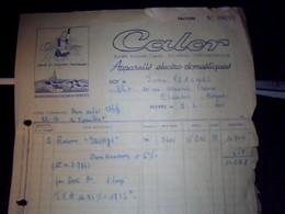 Facture Appareils  Electro Domestiques  CALOR A Lyon Monplaisir Annee 1955 - France