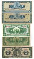 Latin America Lot, 5 Banknotes, Used, See Scan. - Monedas & Billetes