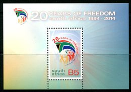 South Africa 2014 Twenty Year Of Freedom And Democracy MS MNH (SG Unlisted) - South Africa (1961-...)