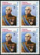 TURKEY 1978 (**) - Mi. 2445, The Birth Centenary Of Reza Shah Pahlavi Of Iran  [Block Of Four] - 1921-... Republic