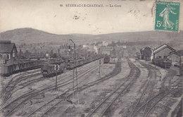 12 - 18 Séverac Le Chateau - La Gare Intéreur, Triage, Trains - - France