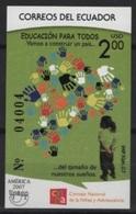 Ecuador (2007) Yv. Bf. 146  /  UPAEP - Education - Gezamelijke Uitgaven