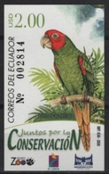 Ecuador (2006) Yv. Bf. 145  / Birds - Oiseaux - Vogel - Parrot - Águilas & Aves De Presa