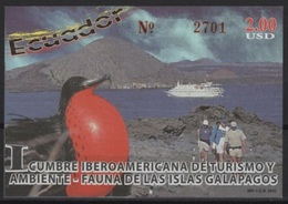 Ecuador (2002) Yv. Bf. 117  / Birds - Oiseaux - Vogel - Galapagos - Águilas & Aves De Presa