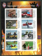 South Africa 2015 International Firefighters Day Sheetlet MNH (SG Unlisted) - South Africa (1961-...)