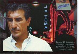 LA TOMA TREBOL PRODUCCIONES CORREA CASAS FANEGO CASTELLAZZI COLOMBA 2000 ARGENTINA TARJETA PUBLICIDAD MODERNA -LILHU - Reclame