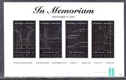 NEVIS 1693    **   9-11-MEMORIAL,    IN  MEMORIAM - Us Independence